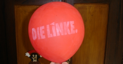 Luftballon der LINKEN