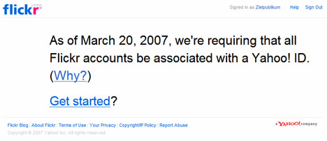 Flickr nur noch mit Yahoo! ID