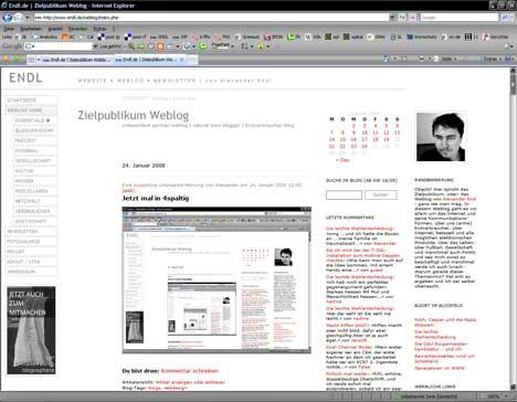 Screenshot Endl.de