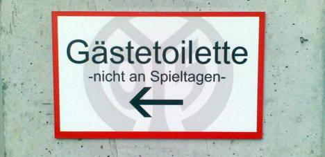Gästetoilette (nicht an Spieltagen)